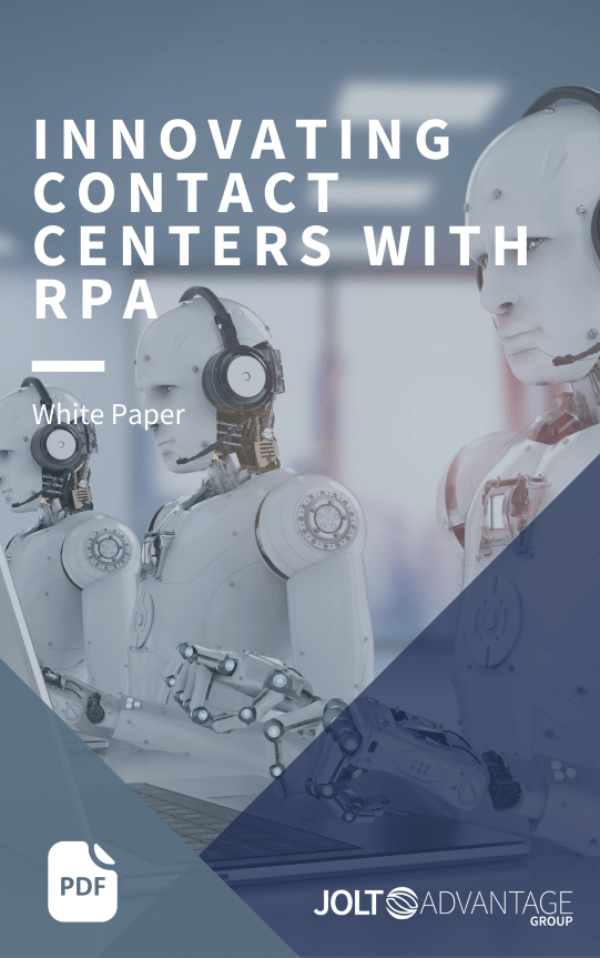 LP Cover - INNOVATING CONTACT CENTERS WITH RPA
